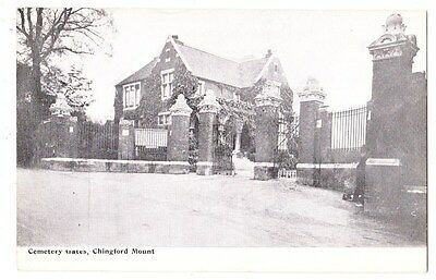 Early Postcard,London, Chingford Mount, The Cemetery Gates, Nice View