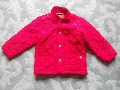 """Childs """"dunwoody"""" Red Quilted Jacket Age 6/7 Years"""