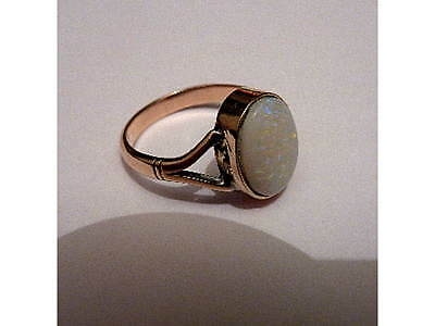 Antique/Edwardian 9 Carat Gold & Natural Multicolour Pin-Fire Opal Ring Size N/O
