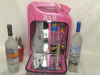 Jerry can mini bar! The pink glitter one