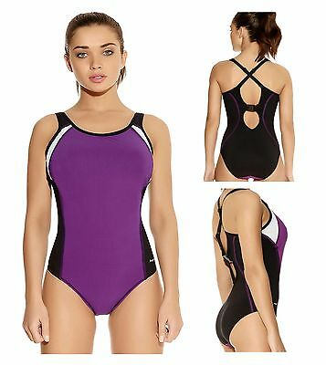 2814764537 Freya Active Moulded Underwired Swimming Costume 3991 Purple Rain Sport  Swimsuit