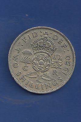 George VI 1949 &1950 & 1951 Florin / Two Shilling KM#878 (3coins)