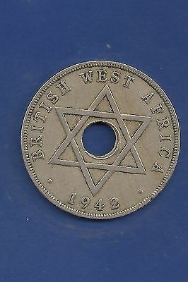 1942 British West Africa One Penny KM#19