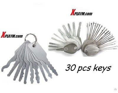 30psc Foldable-Car-Home-Lock-Opener-Double-Sided-Lock-Pic-Set-Lock-smit-Tools