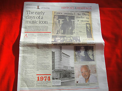 David Essex The Early Days ~ Rare Newspaper Article Cutting Clipping