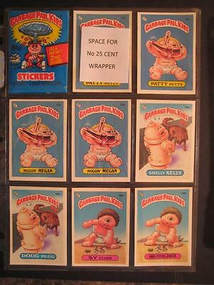 Garbage Pail Kids 2ND SERIES LIVE MIKE BACKS COMPLETE a + b 86 CARD SET
