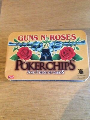 GUNS N ROSES POKER CHIPS AND 1 DECK OF CARDS (Incomplete)