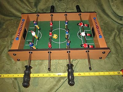 "Miniature Wooden 20"" Mini table Foosball Table game Set soccer table ball game"