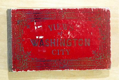 VIEWS OF WASHINGTON CITY D.C. Victorian Accordion-Style View Book 16 Views 1880s
