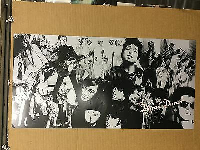 """Duran Duran """"thank you"""". 2-sided 1995 Promo Poster"""