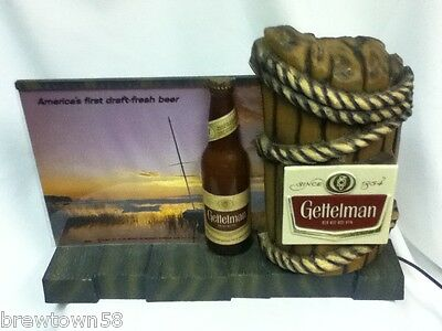 Gettelman lighted beer sign bar light nautical sail boat vintage back display