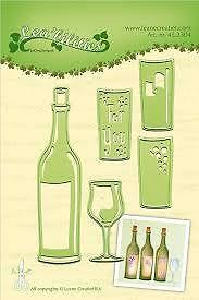 Leabilities Cutting and Embossing Die Wine bottle and Glass 45.2304
