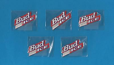 5 Lot Anheuser-Busch Bud Light Beer Small Iron On Hat Jacket Patches Crests