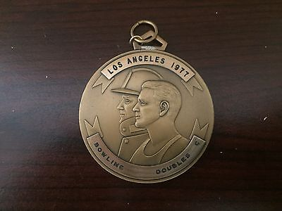 1977 Fireman's Olympics Bowling Doubles Medal - California Fireman's Athletic