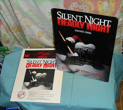 vintage SILENT NIGHT, DEADLY NIGHT video store counter display standee & poster