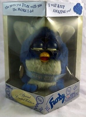Tiger Electronics 1998 Furby Black w/ Green Eyes Not Working