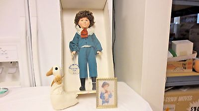 "1985 Effanbee USA Jan Hagaara 16"" Doll, Standup Photo, Duck-Larry #7486-Boxed"