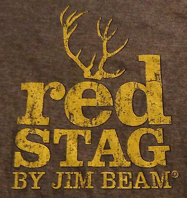 Jim Beam Red Stag Whiskey - Women's Promo Shirt - Brown w/ Gold - Small? - NEW