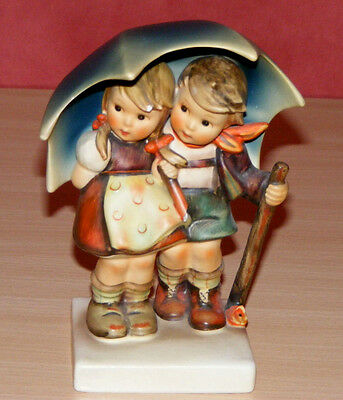 Vintage Hummel #71 Stormy Weather Boy & Girl Under an Umbrella c1960's A/F, RARE