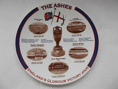 """The Ashes - England's Glorious Victory 2005 Plate -Made By Aynsley Pottery - 8"""""""
