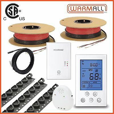 240V - 480 Sq/Ft. - Electrical Radiant Warming Floor Heating Cable Kit