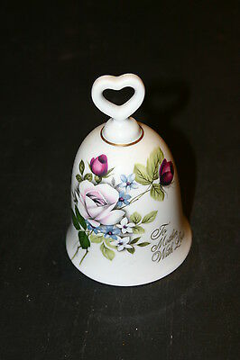 To Mother with love Collectible Porcelain Bell Japan