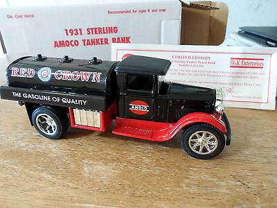 1931 Sterling Amoco Tanker Bank - Made USA 1993 - Red Crown Gasoline Scale Model