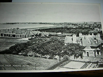 Vintage postcard Troon from Marine Hotel houses town RP 1950s Scotland