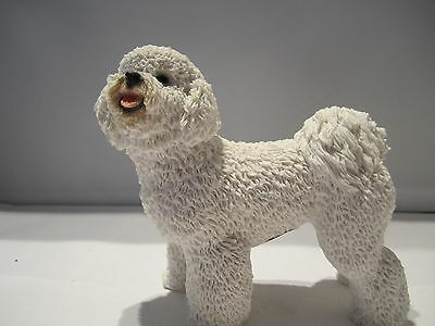 Bichon Frise figure model sculpture Castagna hand made hand painted  in Italy