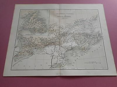 100% Original Canada United States  Map By Hughes C1863 Vgc Low Uk Post