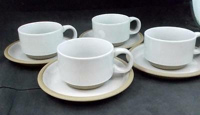 Midwinter NATURAL 4 Cup & Saucer Sets Made in England GREAT CONDITION