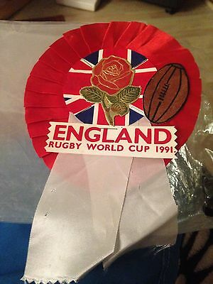 England Rugby World Cup 1991 Rosette