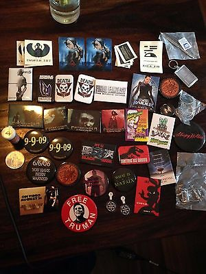 MOVIE Promo Pin Lot and RARE Extras from mid 1990s From Hell Knife, Keychains...