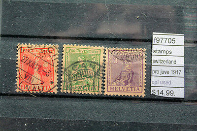 Stamps Switzerland Pro Juve 1917 Complete Used (F97705)