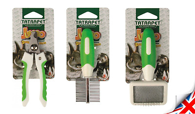 Grooming Set For Rodents COMB BRUSH PLIERS Rabbit Chinchilla Ferret Degu Mouse