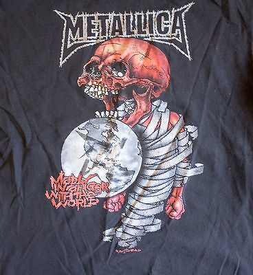 "Vintage Metallica ""Madly in Anger with the World"" 2004 tour t-shirt Men's XL"
