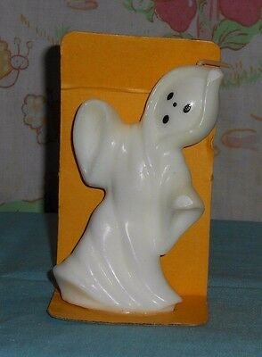 vintage Halloween SUNI CANDLE white ghost with original package/stand