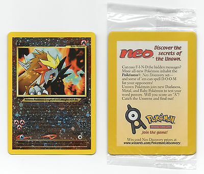 Entei Black Star Promo #34 Reverse Holo Pokemon Card in wrapper NEW SEALED 2001