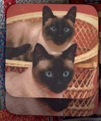 SIAMESE CATS Rubber Backed Coasters #3013