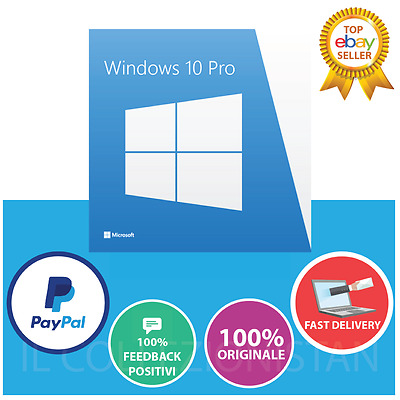 Windows 10 Professional Pro 32/64 BIT Licenza - Product Key Full Language
