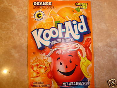 200 Kool Aid Drink Mix * ORANGE * Combined Shipping Available under guidelines