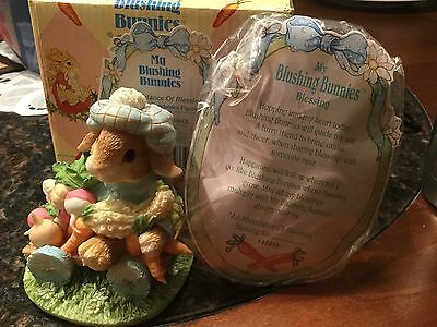 NIB Enesco - My Blushing Bunnies Figurine: An Abundance of Blessings