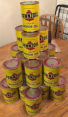 Pennzoil NOS Vintage Unopened One Quart Can 20/20 SAE Motor Oil