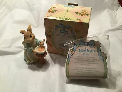NIB Enesco My Blushing Bunnies A Mom Like You Is A Blessing Come True 156981