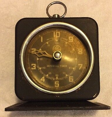 Steampunk VTG Patina GE General  Electric X-RAY Industrial Interval Timer Clock