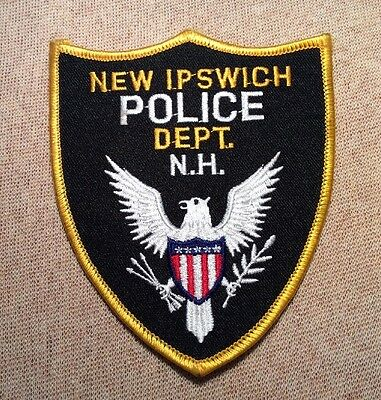 NH New Ipswich New Hampshire Police Patch