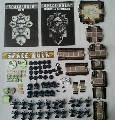 1st edition SPACE HULK Board Game (no box, but virtually complete) Warhammer 40k