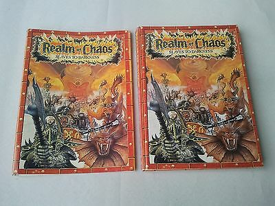 Realm Of Chaos Slaves To Darkness Book + Dust Jacket Warhammer 40k 1988/1991