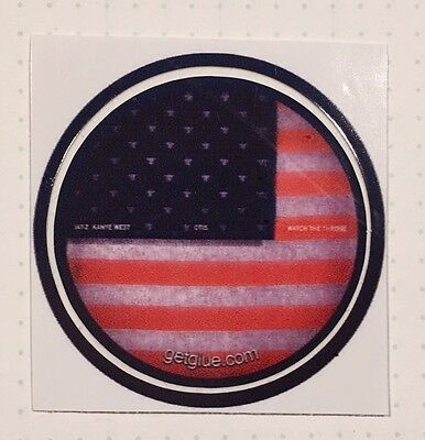 Jay-Z / Kanye West Watch The Throne Otis American Flag - Color Get Glue Sticker