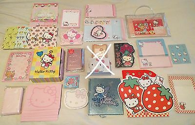 Sanrio Hello Kitty Stationery Lot - Notepad Notebook Stickers Diary Gift Set